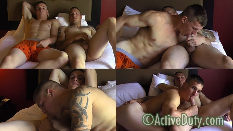 Finn's 1st Time Sucking With Nick - Active Duty - Men of Gay Military Porn - Photo #1