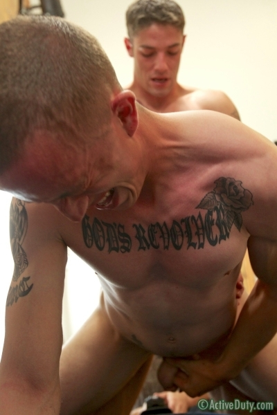 New Recruit Marco Bottoms For Hung Jake In His Debut - Active Duty - Men of Gay Army Porn - Photo #14