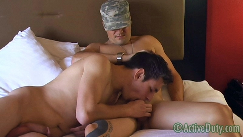 Double-Feature: Ryan Solo & Bryce With Ryan Oral - ActiveDuty.com - Men of Gay Military Porn - Photo #11