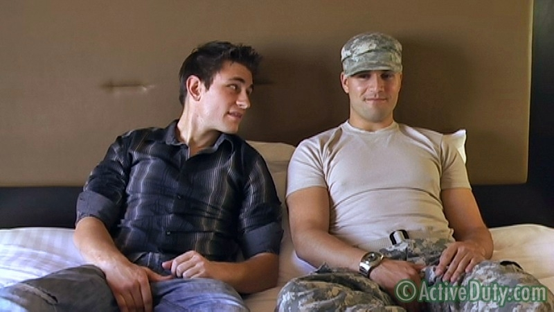 Double-Feature: Ryan Solo & Bryce With Ryan Oral - ActiveDuty.com - Men of Gay Military Porn - Photo #2