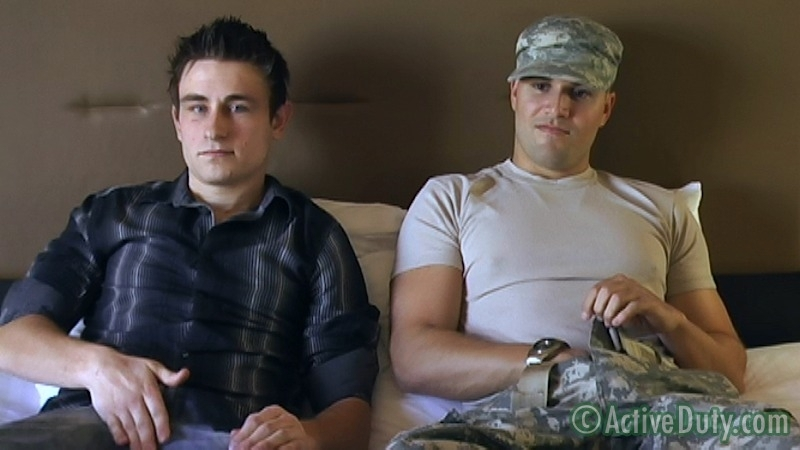 Double-Feature: Ryan Solo & Bryce With Ryan Oral - ActiveDuty.com - Men of Gay Military Porn - Photo #3