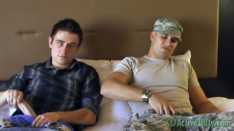 Double-Feature: Ryan Solo & Bryce With Ryan Oral - ActiveDuty.com - Men of Gay Military Porn - Photo #4