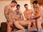 Johnny Rapid Gang Bang - Johnny Rapid - Tony Paradise - Sebastian Young - Rosso Twins - Jizz Orgy - Men of Gay Porn - Photo #15
