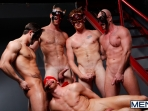 Masked Men - Cole Streets - Phenix Saint - Christopher Daniels - Mitch Vaughn - Micah Jones - Jizz Orgy - Men of Gay Porn - Photo #12