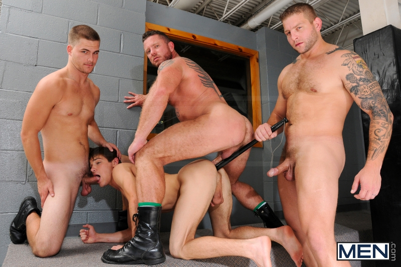 Prison Shower 3 - Johnny Rapid - Colby Jansen - Jimmy Johnson - Charlie Harding - Jizz Orgy - Men of Gay Porn - Photo #13