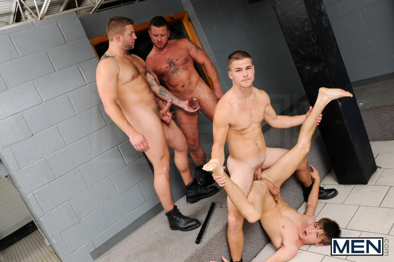 Prison Shower 3 - Johnny Rapid - Colby Jansen - Jimmy Johnson - Charlie Harding - Jizz Orgy - Men of Gay Porn - Photo #16