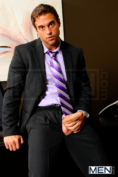 The Promotion - Tommy Defendi - Rocco Reed - Andrew Stark - The Gay Office - Men of Gay Porn - Photo #1