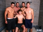 Jizz Shower - Spencer Reed - Tommy Defendi- Jimmy Johnson - Jack King - Hunter Page - Jizz Orgy - Men of Gay Porn - Photo #1