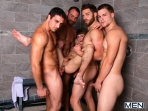 Jizz Shower - Spencer Reed - Tommy Defendi- Jimmy Johnson - Jack King - Hunter Page - Jizz Orgy - Men of Gay Porn - Photo #12