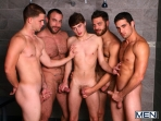 Jizz Shower - Spencer Reed - Tommy Defendi- Jimmy Johnson - Jack King - Hunter Page - Jizz Orgy - Men of Gay Porn - Photo #3