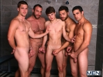 Jizz Shower - Spencer Reed - Tommy Defendi- Jimmy Johnson - Jack King - Hunter Page - Jizz Orgy - Men of Gay Porn - Photo #4