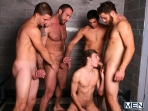 Jizz Shower - Spencer Reed - Tommy Defendi- Jimmy Johnson - Jack King - Hunter Page - Jizz Orgy - Men of Gay Porn - Photo #6