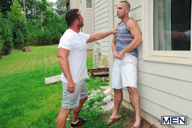 Spying On The Neighbor - Atticus Benson - Charlie Harding - Drill My Hole - Men of Gay Porn - Photo #4