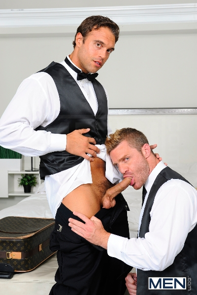 My Bride's Hot Brother - Rocco Reed - Landon Conrad - Str8 To Gay - Men of Gay Porn - Photo #11