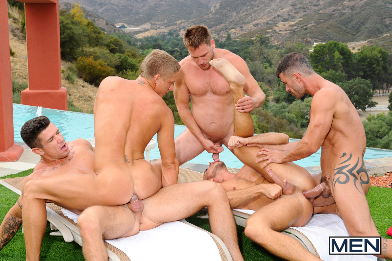 Pool Party Orgy Big dicks at school  salacious