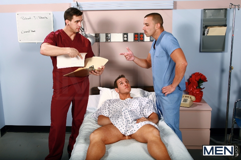 Horny Patient - Phenix Saint - Dylan Roberts - Trevor Knight - Chris Tyler - Jessy Ares - Jizz Orgy - Men of Gay Porn - Photo #1
