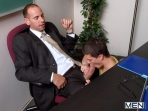 Under The Desk Fun - Girth Brooks - Tyler Sweet - Big Dicks At School - Men of Gay Porn - Photo #5