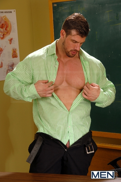 Learning About Infidelity - Zeb Atlas - Mike De Marko - Big Dicks At School - Men of Gay Porn - Photo #1