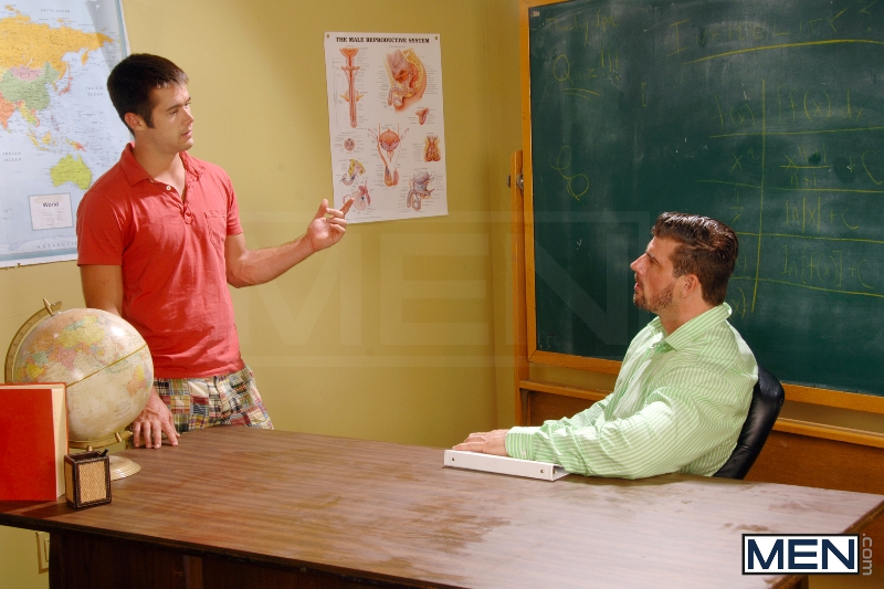 Learning About Infidelity - Zeb Atlas - Mike De Marko - Big Dicks At School - Men of Gay Porn - Photo #6