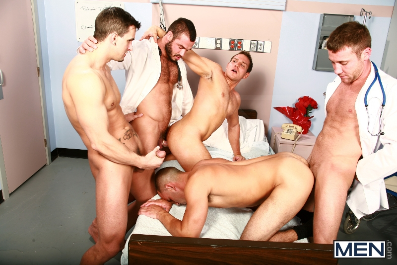 Horny Patient - Phenix Saint - Dylan Roberts - Trevor Knight - Chris Tyler - Jessy Ares - Jizz Orgy - Men of Gay Porn - Photo #10