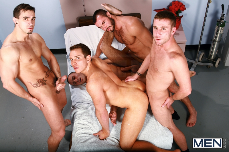 Horny Patient - Phenix Saint - Dylan Roberts - Trevor Knight - Chris Tyler - Jessy Ares - Jizz Orgy - Men of Gay Porn - Photo #14