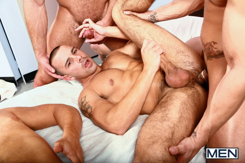 Horny Patient - Phenix Saint - Dylan Roberts - Trevor Knight - Chris Tyler - Jessy Ares - Jizz Orgy - Men of Gay Porn - Photo #16