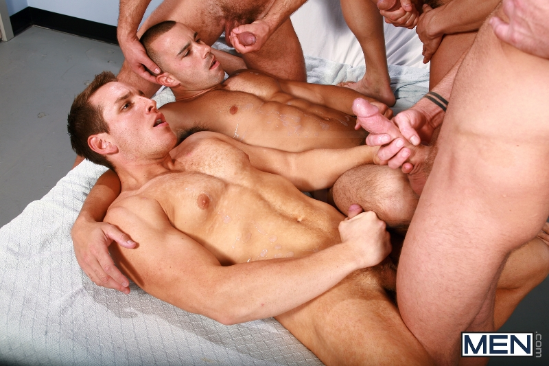 Horny Patient - Phenix Saint - Dylan Roberts - Trevor Knight - Chris Tyler - Jessy Ares - Jizz Orgy - Men of Gay Porn - Photo #17
