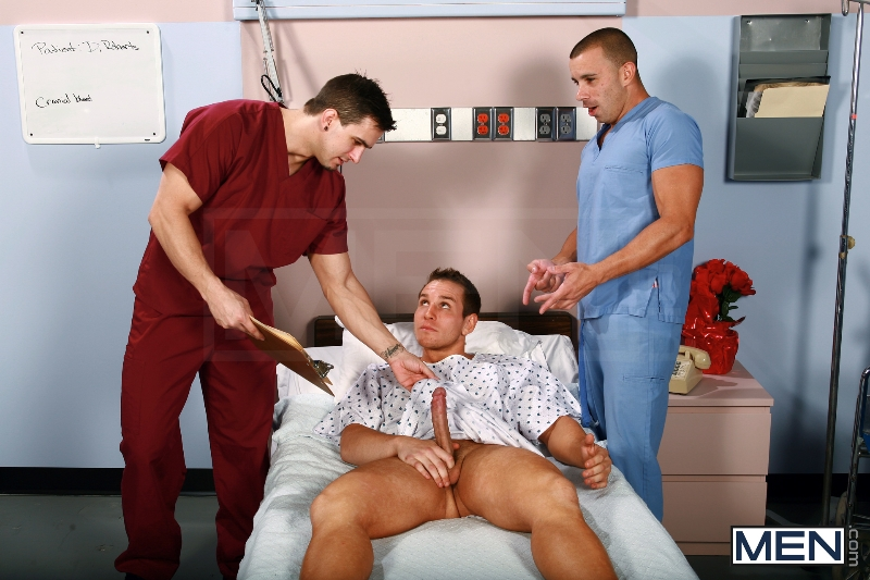 Horny Patient - Phenix Saint - Dylan Roberts - Trevor Knight - Chris Tyler - Jessy Ares - Jizz Orgy - Men of Gay Porn - Photo #2