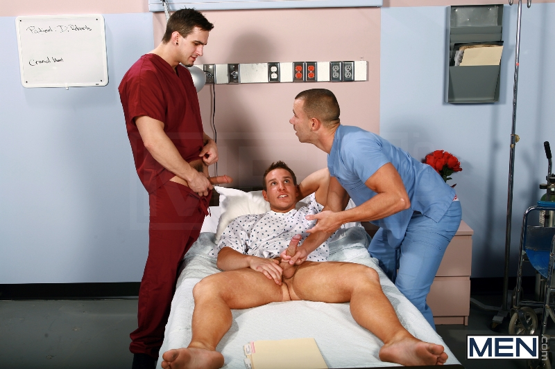 Horny Patient - Phenix Saint - Dylan Roberts - Trevor Knight - Chris Tyler - Jessy Ares - Jizz Orgy - Men of Gay Porn - Photo #3