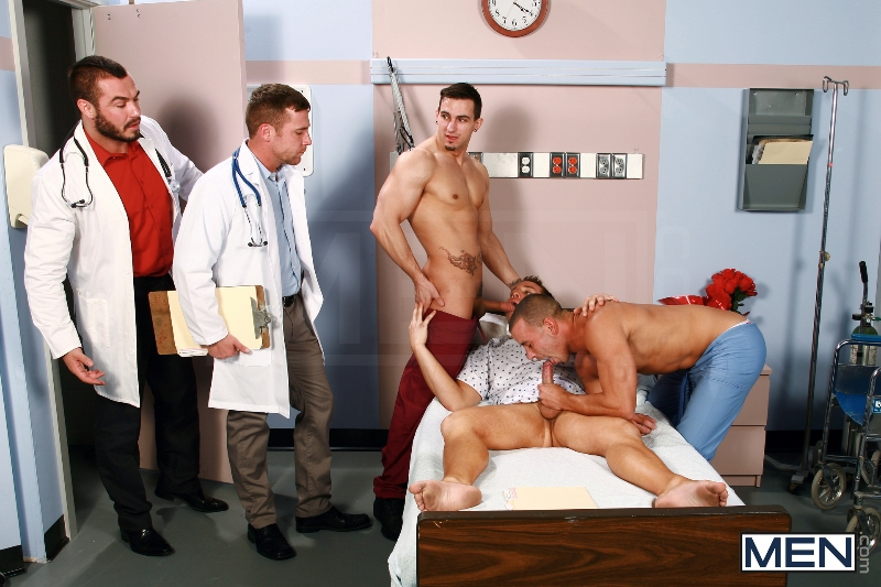 Horny Patient - Phenix Saint - Dylan Roberts - Trevor Knight - Chris Tyler - Jessy Ares - Jizz Orgy - Men of Gay Porn - Photo #5