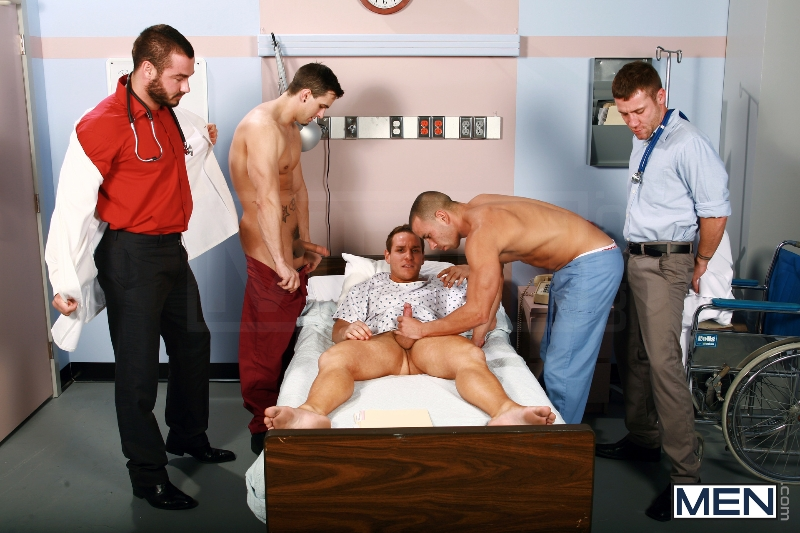 Horny Patient - Phenix Saint - Dylan Roberts - Trevor Knight - Chris Tyler - Jessy Ares - Jizz Orgy - Men of Gay Porn - Photo #6