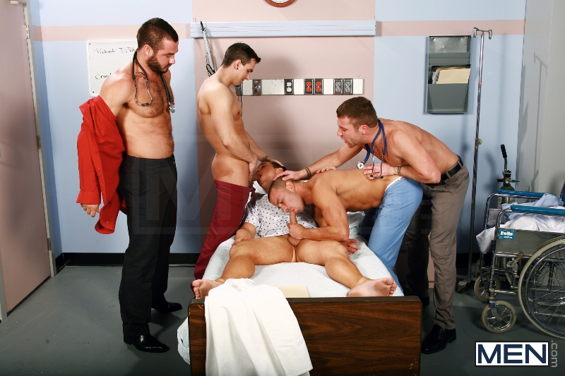 Horny Patient - Phenix Saint - Dylan Roberts - Trevor Knight - Chris Tyler - Jessy Ares - Jizz Orgy - Men of Gay Porn - Photo #7