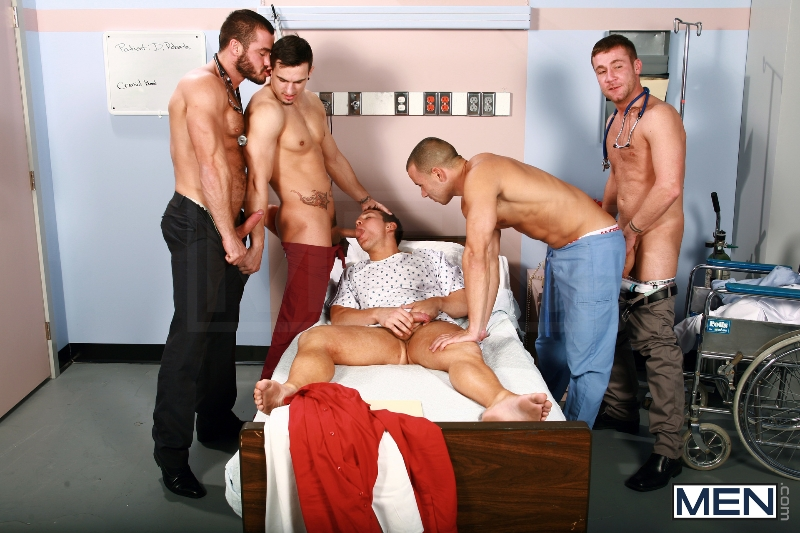 Horny Patient - Phenix Saint - Dylan Roberts - Trevor Knight - Chris Tyler - Jessy Ares - Jizz Orgy - Men of Gay Porn - Photo #8