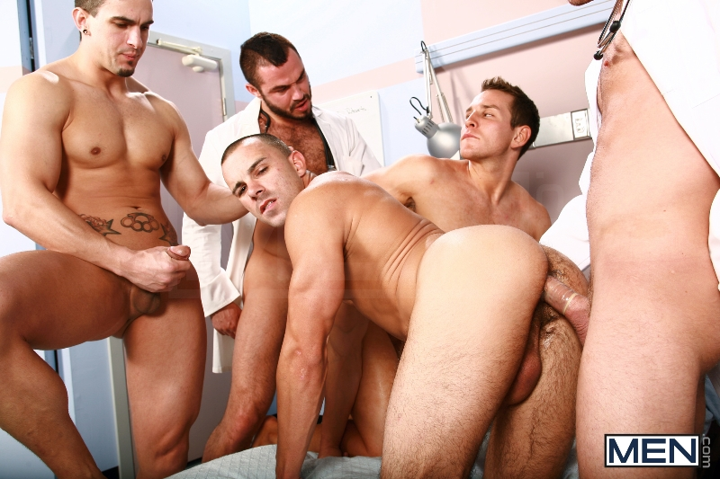 Horny Patient - Phenix Saint - Dylan Roberts - Trevor Knight - Chris Tyler - Jessy Ares - Jizz Orgy - Men of Gay Porn - Photo #9