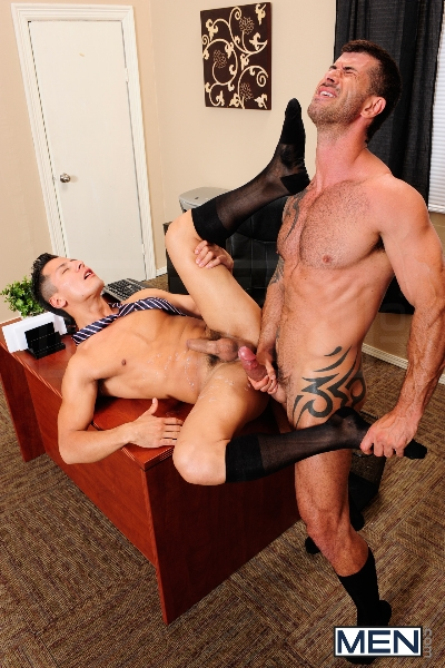 After Hours Pick-Up - Adam Killian - Edin Sol - The Gay Office - Men of Gay Porn - Photo #14