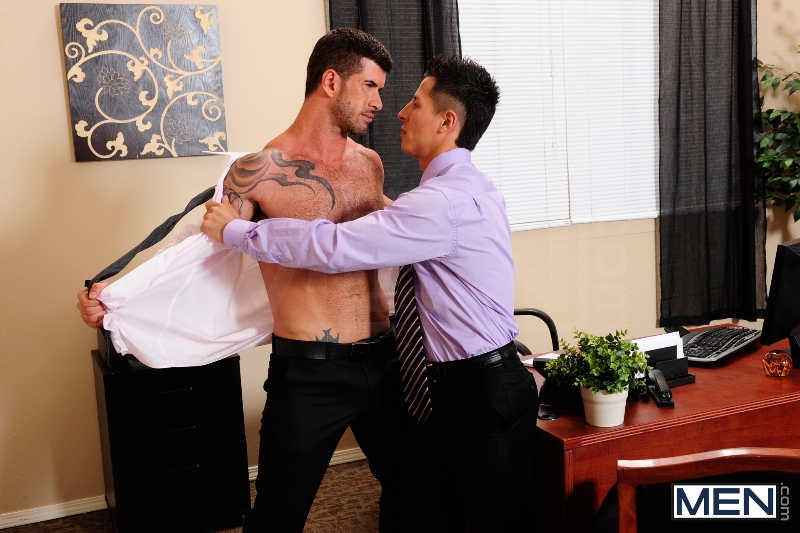 After Hours Pick-Up - Adam Killian - Edin Sol - The Gay Office - Men of Gay Porn - Photo #5