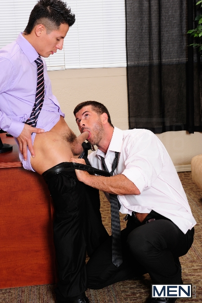 After Hours Pick-Up - Adam Killian - Edin Sol - The Gay Office - Men of Gay Porn - Photo #7