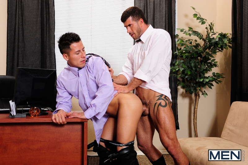 After Hours Pick-Up - Adam Killian - Edin Sol - The Gay Office - Men of Gay Porn - Photo #9