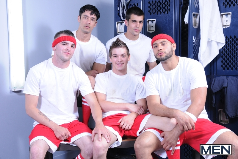 Winning Ball - Blaze - Rafael Alencar - Johnny Rapid - Leo Forte - Brad Foxx - Jizz Orgy - Men of Gay Porn - Photo #1