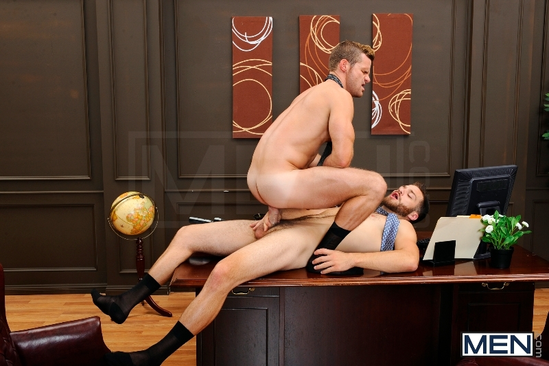 The Horny Publisher - Tommy Defendi - Landon Conrad - The Gay Office - Men of Gay Porn - Photo #11