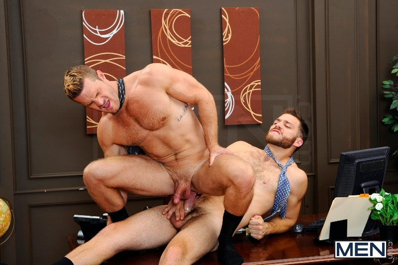 The Horny Publisher - Tommy Defendi - Landon Conrad - The Gay Office - Men of Gay Porn - Photo #12