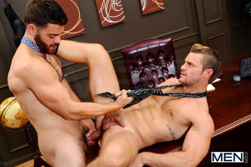The Horny Publisher - Tommy Defendi - Landon Conrad - The Gay Office - Men of Gay Porn - Photo #14