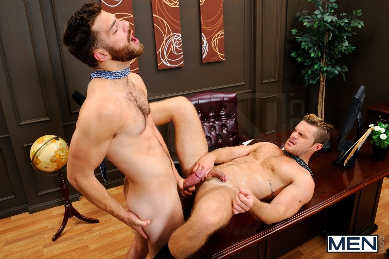 The Horny Publisher - Tommy Defendi - Landon Conrad - The Gay Office - Men of Gay Porn - Photo #15