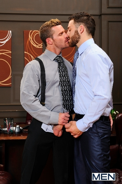 The Horny Publisher - Tommy Defendi - Landon Conrad - The Gay Office - Men of Gay Porn - Photo #8