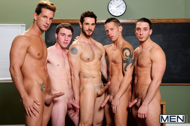 Honor Roll - Dean Monroe - Shane Frost - Drake Wild - Ayden Marx - Luke Marcum - Jizz Orgy - Men of Gay Porn - Photo #1