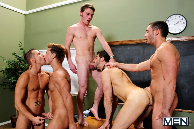 Honor Roll - Dean Monroe - Shane Frost - Drake Wild - Ayden Marx - Luke Marcum - Jizz Orgy - Men of Gay Porn - Photo #10