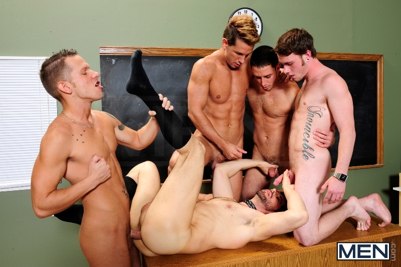 Honor Roll - Dean Monroe - Shane Frost - Drake Wild - Ayden Marx - Luke Marcum - Jizz Orgy - Men of Gay Porn - Photo #11