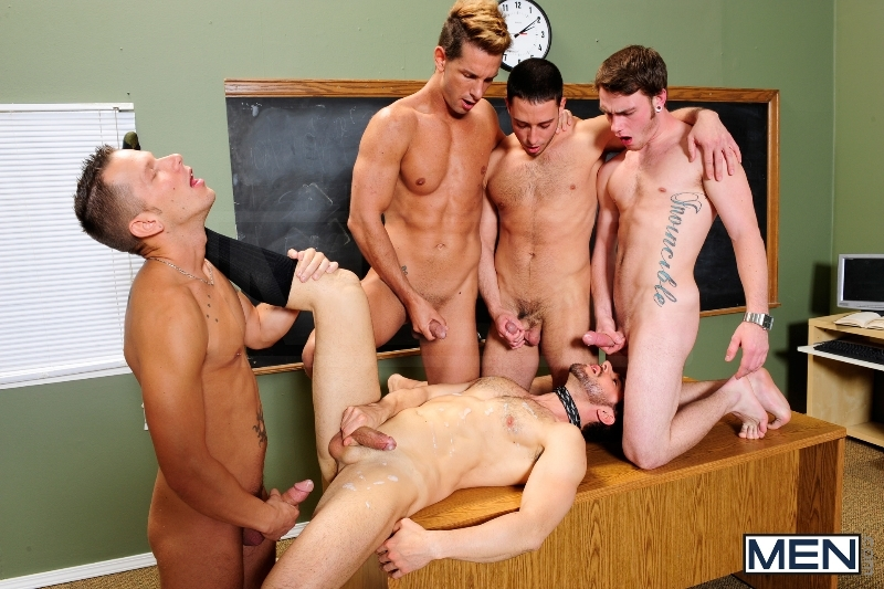 Honor Roll - Dean Monroe - Shane Frost - Drake Wild - Ayden Marx - Luke Marcum - Jizz Orgy - Men of Gay Porn - Photo #12