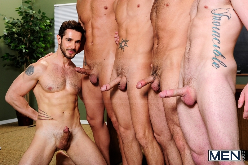 Honor Roll - Dean Monroe - Shane Frost - Drake Wild - Ayden Marx - Luke Marcum - Jizz Orgy - Men of Gay Porn - Photo #2