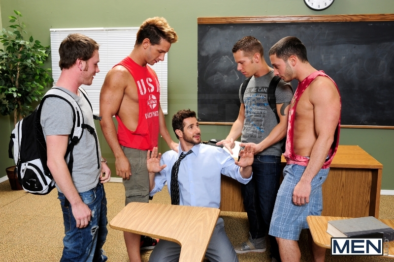 Honor Roll - Dean Monroe - Shane Frost - Drake Wild - Ayden Marx - Luke Marcum - Jizz Orgy - Men of Gay Porn - Photo #4